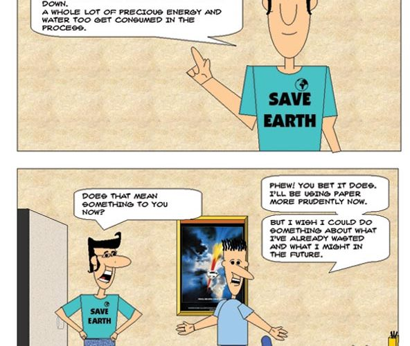 [CARTOONING] – Creating a web comic using only the drawing tools in Microsoft Powerpoint – [Cartooning] Paper Recycling